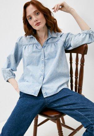 Рубашка джинсовая Gerard Darel. Цвет: голубой