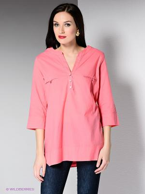 Блузка DRS Deerose. Цвет: розовый