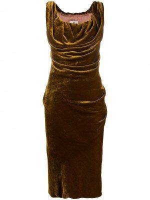 Платье миди с воротником-хомут Vivienne Westwood. Цвет: золотистый