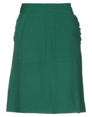 Юбка до колена ANDREA TURCHI. Цвет: изумрудно-зеленый