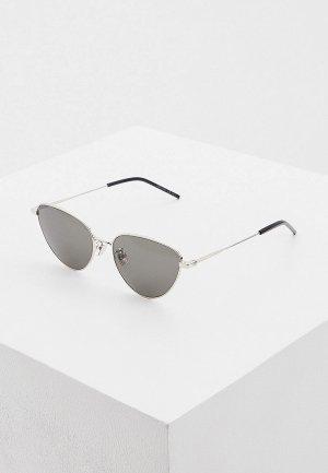Очки солнцезащитные Saint Laurent SL 310 001. Цвет: серебряный