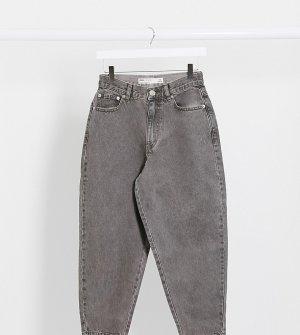 Серые свободные джинсы бойфренда в винтажном стиле ASOS DESIGN Petite-Серый Petite