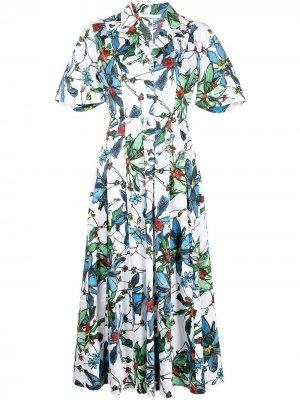 Платье с цветочным принтом Jason Wu Collection. Цвет: разноцветный