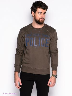 Свитшот 883 Police. Цвет: хаки