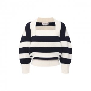 Пуловер из шерсти и кашемира Alexander McQueen. Цвет: синий
