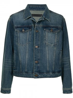 Джинсовая куртка SONGZIO. Цвет: синий