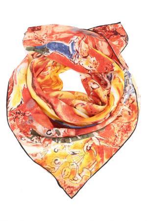 Платок F.FRANTELLI. Цвет: терракотовый, желтый, красный