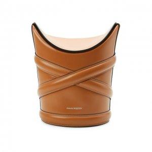 Сумка Curve Alexander McQueen. Цвет: коричневый