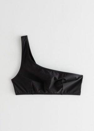 Асимметричный лиф бикини &Other Stories. Цвет: черный