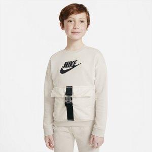 Свитшот для мальчиков школьного возраста Sportswear - Серый Nike