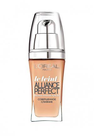 Тональный крем LOreal Paris L'Oreal Alliance Perfect, Совершенное слияние, выравнивающий и увлажняющий, оттенок D4, 30 мл. Цвет: бежевый