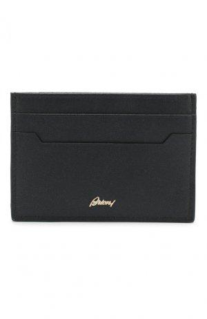 Кожаный футляр для кредитных карт Brioni. Цвет: синий