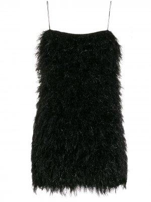 Короткое приталенное платье Laneus. Цвет: черный
