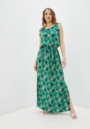 Платье Снежная Королева. Цвет: зеленый