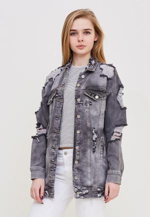 Куртка джинсовая DSHE MP002XW140TF. Цвет: серый