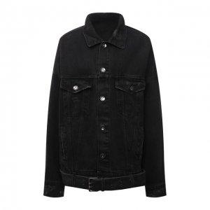 Джинсовая куртка DANIILBERG. Цвет: чёрный