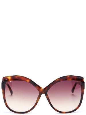 Солнцезащитные очки LINDA FARROW. Цвет: коричневый