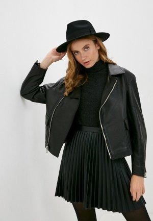 Куртка кожаная Major Fabric. Цвет: черный