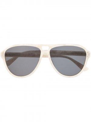 Солнцезащитные очки-авиаторы AMIRI. Цвет: белый