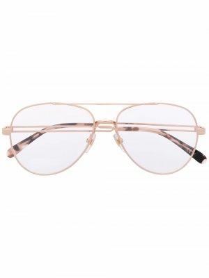 Tinted aviator sunglasses Givenchy Eyewear. Цвет: золотистый