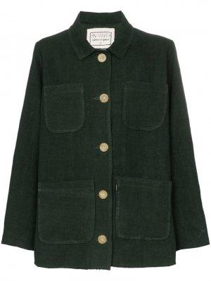 Куртка Linda с четырьмя карманами By Walid. Цвет: зеленый