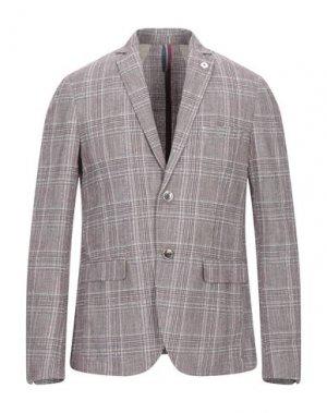 Пиджак SSEINSE. Цвет: красно-коричневый