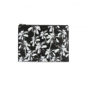 Кожаный футляр для документов Saint Laurent. Цвет: чёрный
