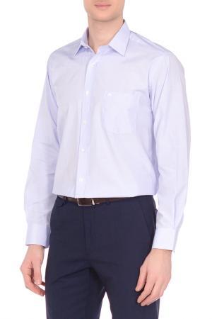 Рубашка Karflorens. Цвет: голубой, белый