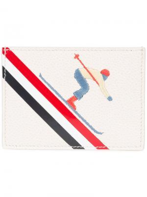 Визитница Skier Thom Browne. Цвет: белый