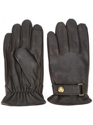 Кожаные перчатки Polo Ralph Lauren. Цвет: коричневый