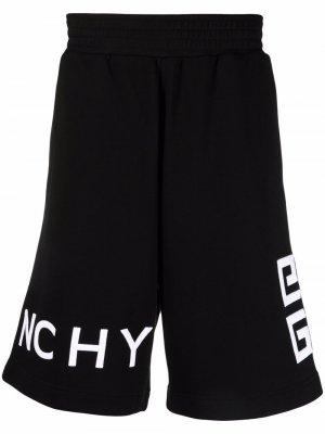Спортивные шорты с вышитым логотипом Givenchy. Цвет: черный
