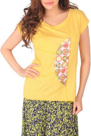 Блуза-футболка Artwizard. Цвет: желтый