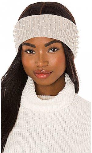 Теплые наушники knit pearl Lele Sadoughi. Цвет: серый