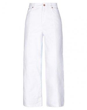 Джинсовые брюки GESTUZ. Цвет: белый