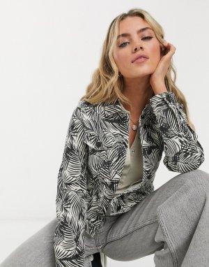 Джинсовая куртка кремового цвета -Белый Vero Moda