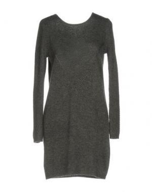 Короткое платье AXARA PARIS. Цвет: свинцово-серый