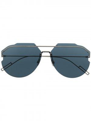 Солнцезащитные очки-авиаторы Andiorid Dior Eyewear. Цвет: серый