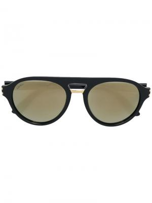 Солнцезащитные очки C Décor Cartier. Цвет: черный