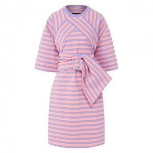 Хлопковое платье MARC JACOBS (THE). Цвет: фиолетовый