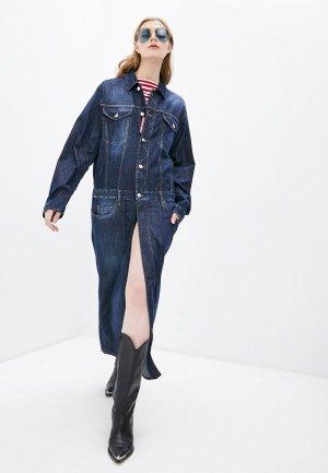 Платье джинсовое Dsquared2. Цвет: синий