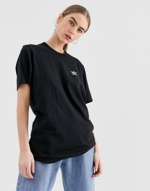 Черная футболка с небольшим логотипом Essential-Черный adidas Originals