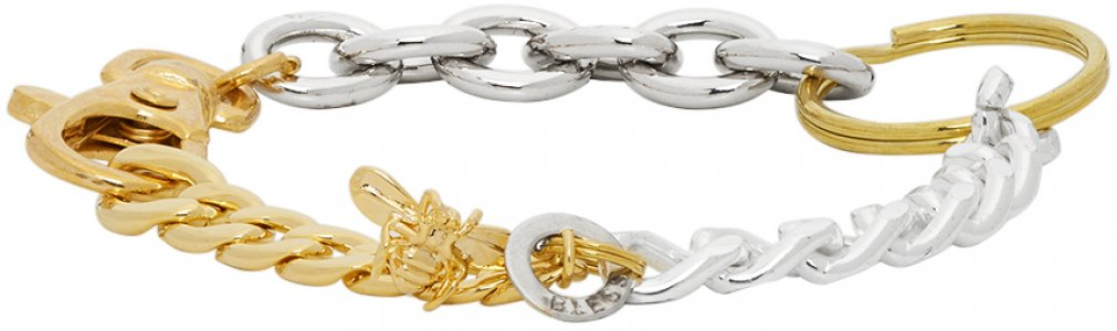 Gold & Silver Materialmix Bracelet Bless. Цвет: gldsilvwatc