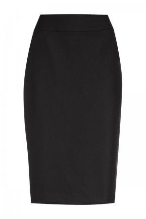 Классическая юбка зауженного силуэта VASSA&Co. Цвет: черный