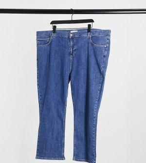Синие выбеленные джинсы прямого кроя Plus-Синий Elvi