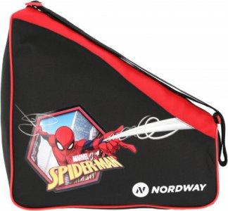 Сумка для ледовых коньков детская SPIDER-MAN Nordway. Цвет: черный