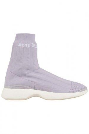 Кроссовки Acne. Цвет: светло-фиолетовый