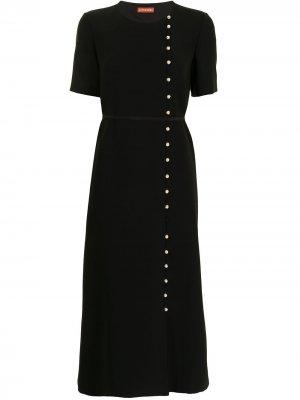 Декорированное платье с короткими рукавами Altuzarra. Цвет: черный