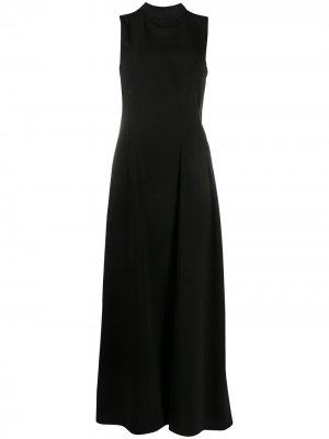 Платье без рукавов со складками по подоле MM6 Maison Margiela. Цвет: черный