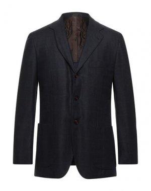 Пиджак KITON. Цвет: темно-синий