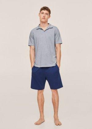 Комплект пижама из хлопка - Palamos Mango. Цвет: индиго